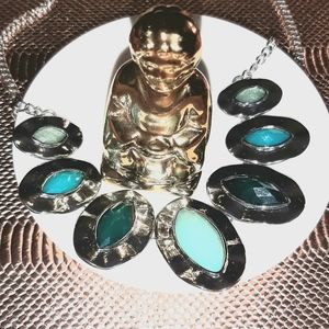 Bancroft Silver & Turquoise Stone Necklace